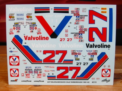 #27 Valvoline 1981-82 Buick Cale Yarborough Powerslide #315