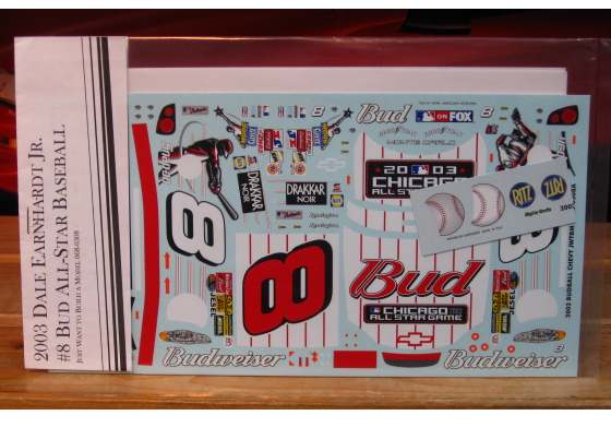 # 8 Budweiser MLB All Star Game 2003 Dale Earnhardt Jr JWTBM
