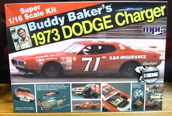 #71 K&K Insurance Buddy Baker 1/16 Scale Charger MPC Kit Sealed