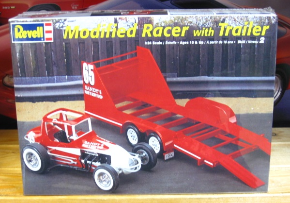 Revell Modified Racer with Trailer Kit Sealed