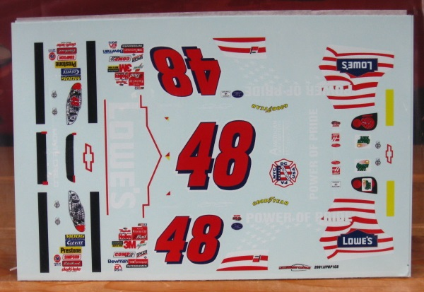 #48 Lowe's Jimmie Johnson First Start 2001 Monte Carlo