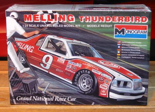 # 9 Melling Thunderbird Bill Elliott 1983 Monogram Kit Complete