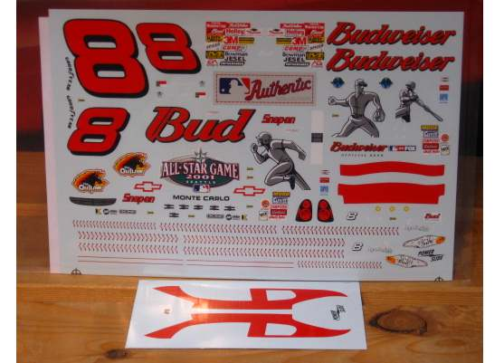 # 8 Budweiser MLB All Star 2001 Dale Earnhardt Jr Powerslide