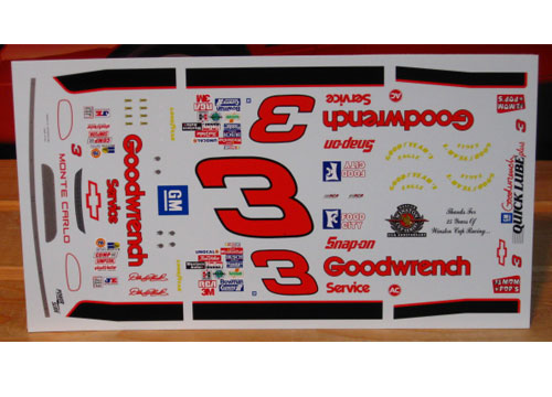 # 3 Goodwrench Silver 1995 Dale Earnhardt Powerslide