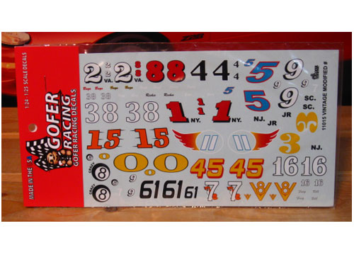 Gofer Decals #11015 Vintage Modified Numbers
