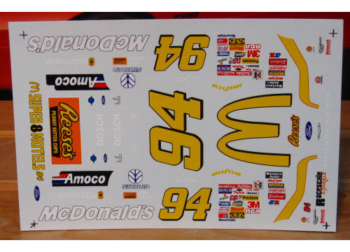 #94 McDonalds Bill Elliott 1997 RaceScale