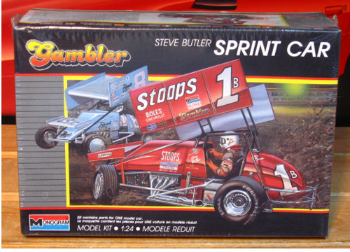 Monogram Steve Butler #1 Stoops Sprint Car Kit Sealed
