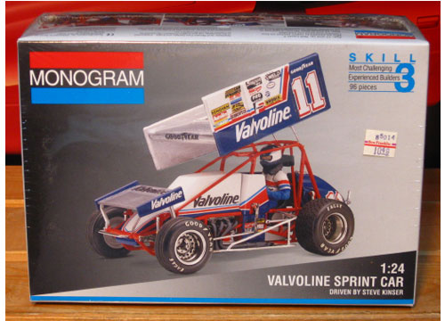 Monogram Steve Kinser #11 Valvoline Sprint Car Kit Sealed