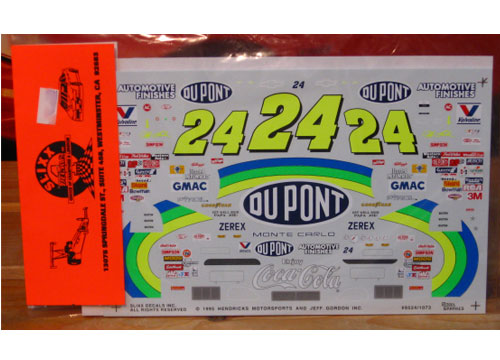 #24 DuPont Jeff Gordon 1995 Slixx