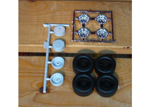 Stock Car Wheels and Tires Lot of 2