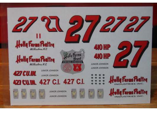 #27 Holly Farms Junior Johnson 1964-65 Ford PPP
