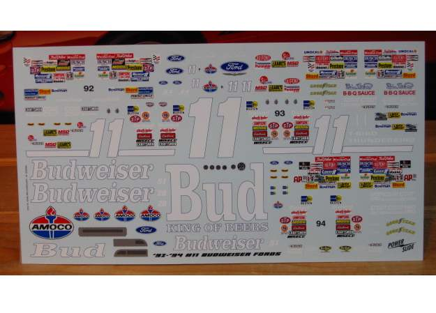 #11 Budweiser Bill Elliott 1992-94 Thunderbird Powerslide