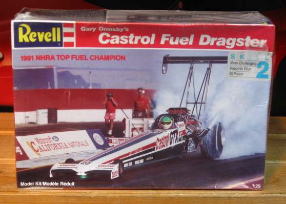 Revell Castrol Gary Ormsby Top Fuel Dragster Error Kit Sealed