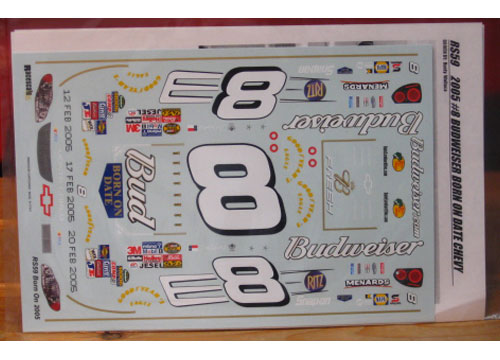 # 8 Bud Born On Dale Earnhardt Jr 2005 RaceScale