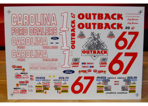 # 1 Carolina Ford #67 Outback Jeff Gordon