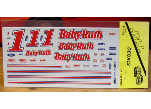 # 1 Baby Ruth Jeff Gordon JNJ