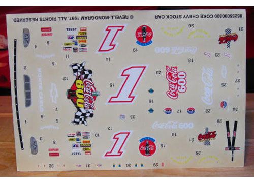 # 1 Coca Cola 600 1997 Decals