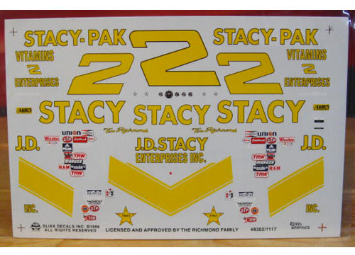 # 2 JD Stacy Tim Richmond 1981 Slixx