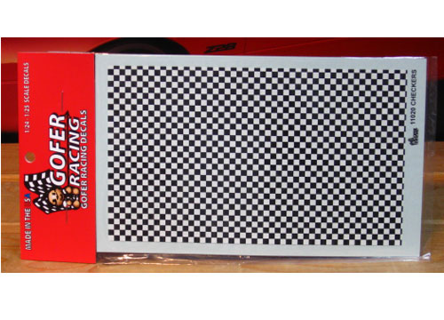 Gofer Decals #11020 Checkered Flag Graphics