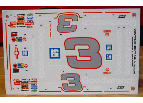 # 3 Goodwrench Dale Earnhardt 1988 Monogram