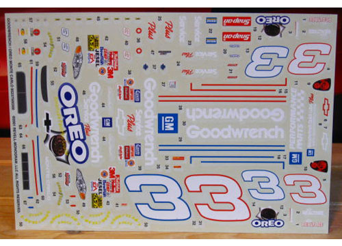 # 3 Goodwrench/Oreo Dale Earnhardt Monte Carlo 2001