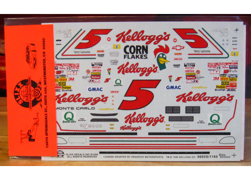 # 5 Kelloggs Iron Man Terry Labonte 1996 Slixx