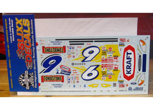# 6 Kraft Tombstone Mark Martin 2002 Slixx