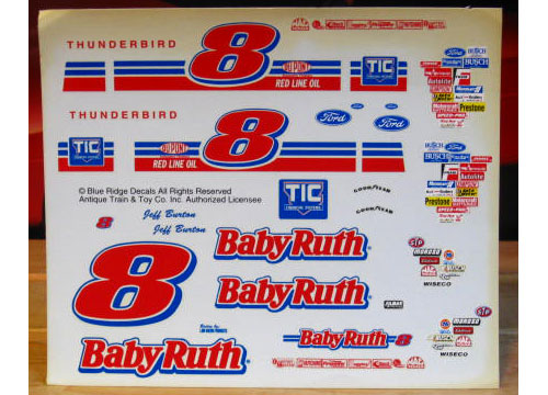 # 8 Baby Ruth Jeff Burton Blue Ridge