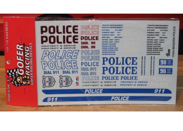 Gofer Decals #11024 Modern Police Graphics