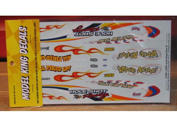 Model King Decals Drag Cars #1