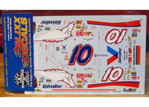 #10 Valvoline Fan Scheme Johnny Benson 2001 Slixx