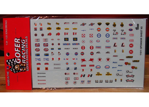 Gofer Decals #11011 '60s Contingencies Sponsor Sheet