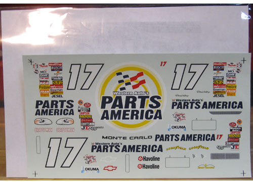 "#17 Parts America ""Tide Colors"" 1997"