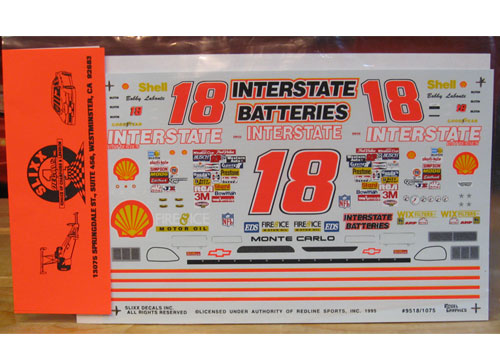 #18 Interstate Bobby Labonte 1995 Slixx