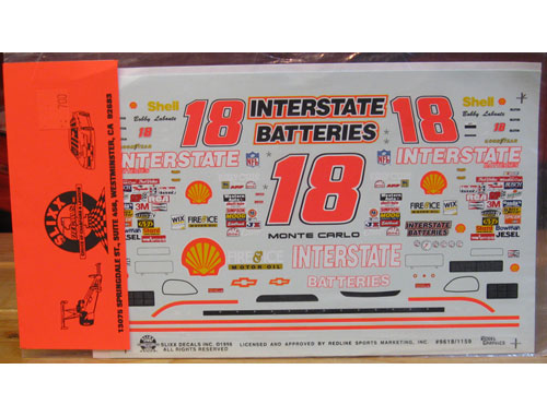 #18 Interstate Bobby Labonte 1996 Slixx