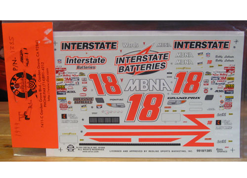 #18 Interstate Bobby Labonte 1999 Slixx