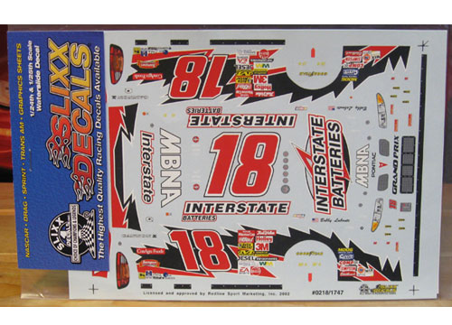 #18 Interstate Bobby Labonte 2002 Slixx