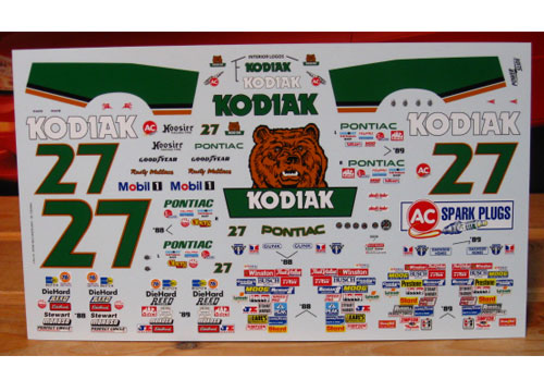#27 Kodiak Rusty Wallace 1988-89 Powerslide