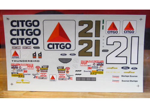 "#21 Citgo ""70's Colors"" Michael Waltrip 1997"