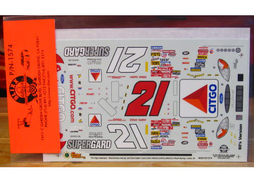 #21 Citgo 60s Colors Elliott Sadler 2000 Slixx