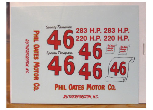 #46 Phil Oates Motor Co Speedy Thompson 1957 Chevy PPP