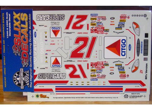 #21 Citgo 80s Colors Elliott Sadler 2000 Slixx