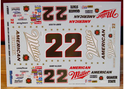 #22 Miller Bobby Allison 1985 Wetworks