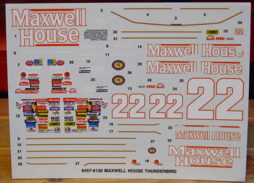 #22 Maxwell House Sterling Marlin 1991 AMT