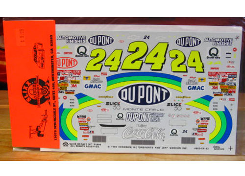 #24 DuPont Jeff Gordon 1996 Slixx