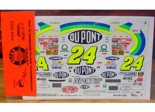 #24 DuPont Jeff Gordon 1997 Slixx