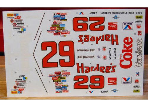 #29 Hardees Cale Yarborough 1987