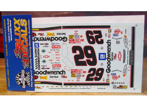 #29 Goodwrench Black Numbers Kevin Harvick 2001 Slixx