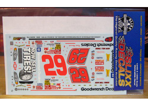 #29 Dealers Now Sell Tires Kevin Harvick 2002 Slixx