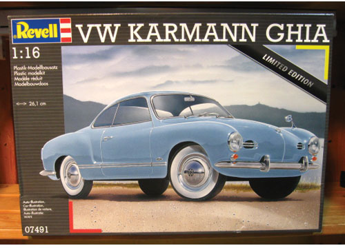 Revell VW Karmann Ghia 1/16 Scale Kit Sealed